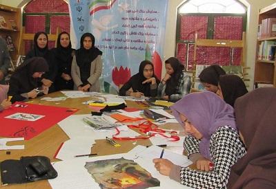 مسابقه ساخت روزنامهدیواری در کتابخانه شهدای وحدتیه بوشهر