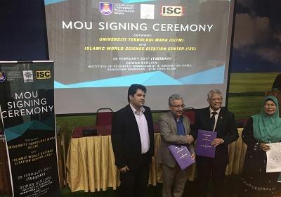 امضاء تفاهم نامه همکاری بین پایگاه استنادی علوم جهان اسلام  و دانشگاه های برتر مالزی