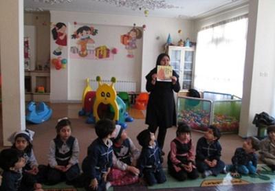 اجرای برنامه های فرهنگی در مهد های کودک همدان