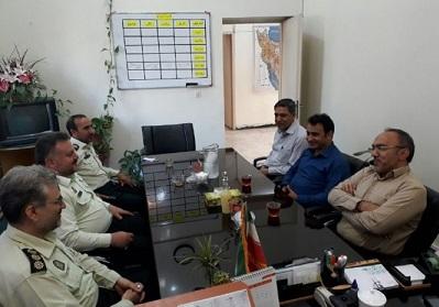 حضور فرمانده نیروی انتظامی شهرستان اسلامشهر در اداره کتابخانه های عمومی