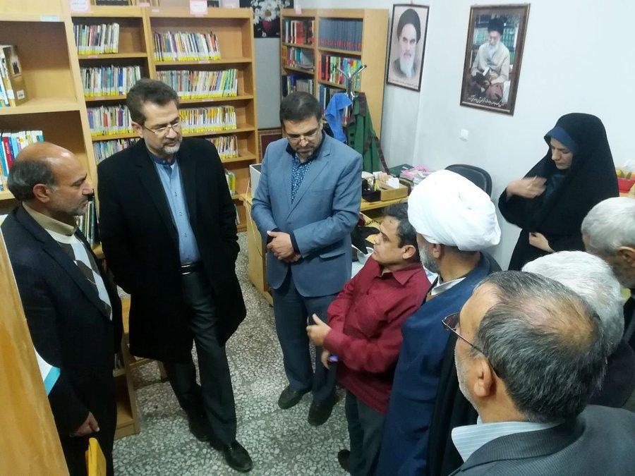 مشکلات کتابخانه شیخ مفید مجن در استان سمنان بررسی شد
