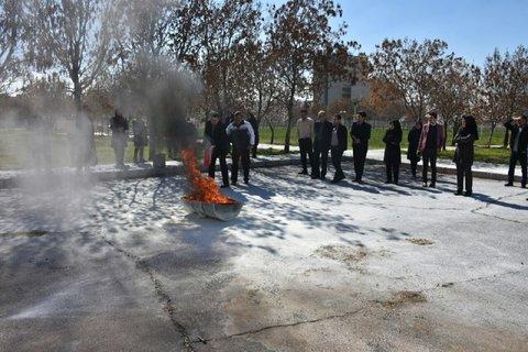 دوره آموزشی اطفاء حریق ویژه کتابداران آذربایجان شرقی