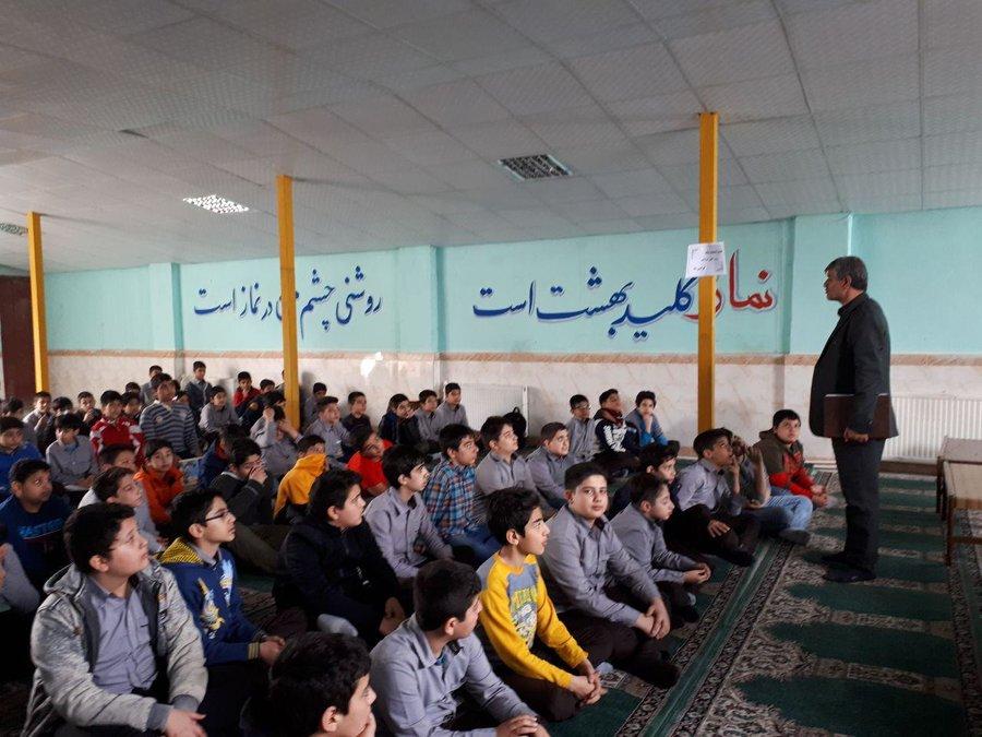 برگزاری نشست کتاب خوان مدرسه ای در مدرسه بهار آزادی فردیس استان البرز