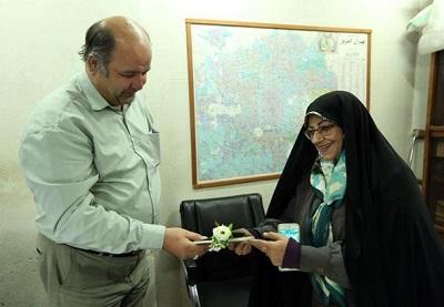 دیدار اشرف بروجردی با جانبازانِ سازمان اسناد و کتابخانه ملی