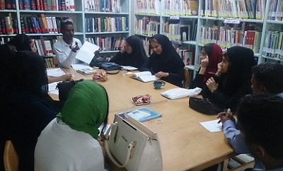 Holding a series of weekly meetings of book-reading at Shahid Motahari Library in Bandarabbas