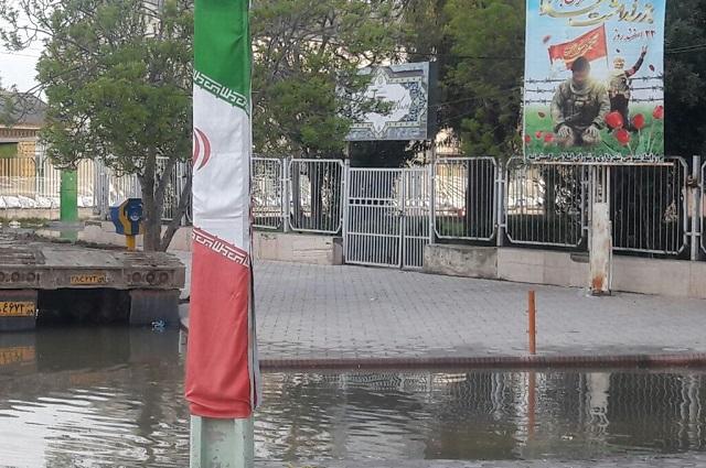 کتابخانه گمیشان استان گلستان از سیل در امان ماند/ خسارات جزئی به ساختمان کتابخانه +عکس