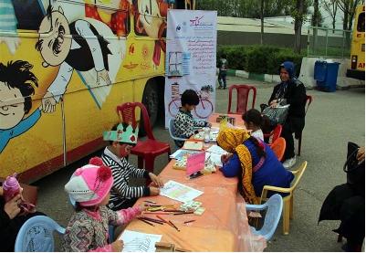 کتابخانه هدهد، پذیرای کودکان در نمایشگاه کتاب تهران