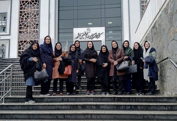 بازدید مسئولان و کتابداران دانشگاه فردوسی مشهد از کتابخانه مرکزی امام خمینی