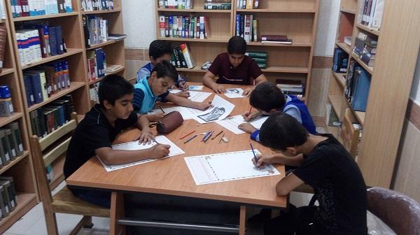 مسابقه نقاشی از کتاب «درختی که بال در آورد» در کتابخانه عمومی شهیدان اسلام هفتکل