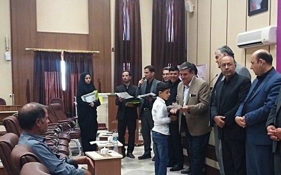 آیین اختتامیه نهمین جشنواره کتابخوانی رضوی در رشتخوار برگزار شد