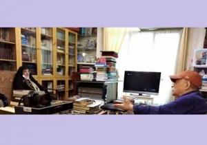دیدار رییس سازمان اسناد و کتابخانه ملی ایران با سید عبدالله انوار