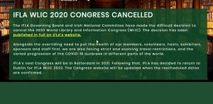 لغو اجلاس 2020 ایفلا و ایکا