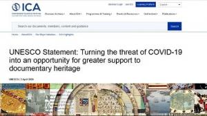 انتشار بیانیه مشترک یونسکو و ایکا در حمایت از میراث مستند در دوران شیوع کرونا