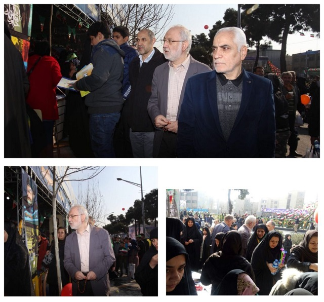 Public Library kiosks received massive crowd in the Islamic Revolution rally